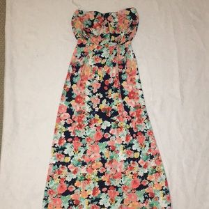 Long Strapless Floral Dress from Macy's